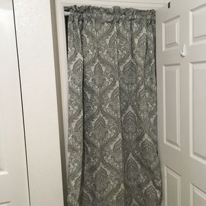Croscill Home Gray Patterned Panel Drapes